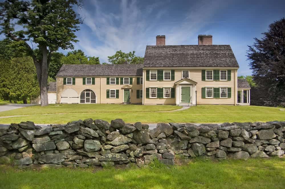 Large colonial style home in Massachusetts.