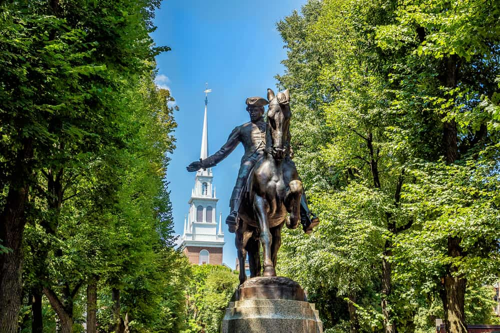 Paul Revere Statue in Massachusetts