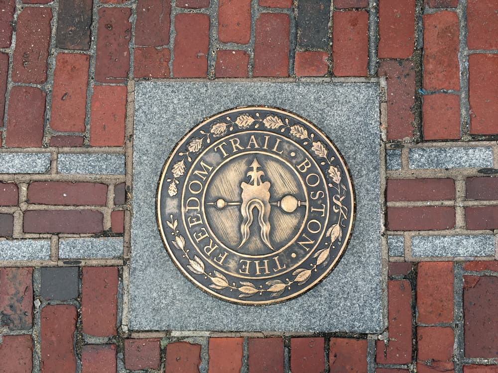 Freedom Trail Plaque in Massachusetts