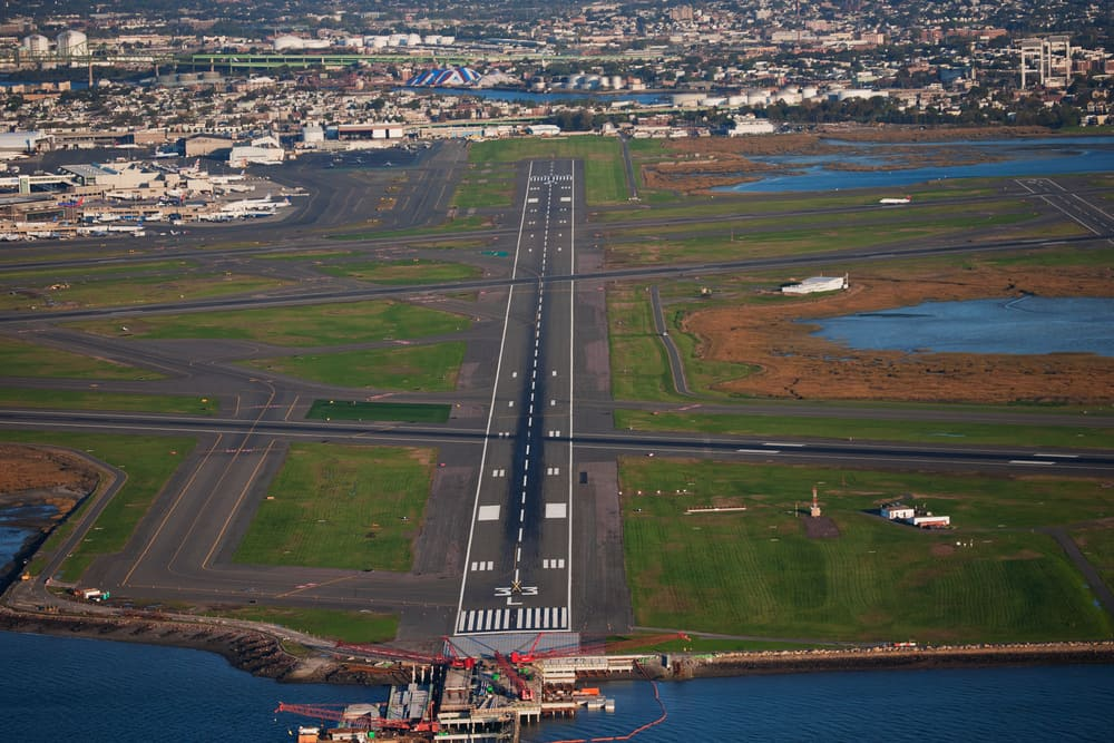 Runway at Boston Logan International Airport